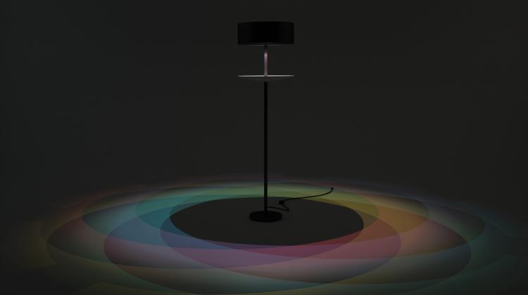 Rainbow Eclipse Lamp :: Moss and Fog