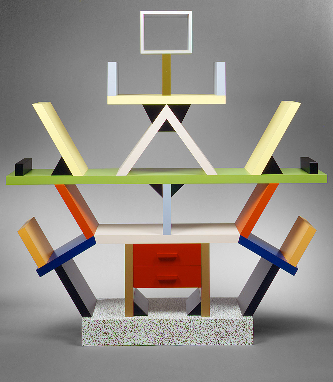 """Working Title/Artist: 1981, Ettore Sottsass: """"Carlton"""" Room Divider, wood, plastic laminate Department: Modern Art Culture/Period/Location: HB/TOA Date Code: 11 Working Date: scanned for collections"""