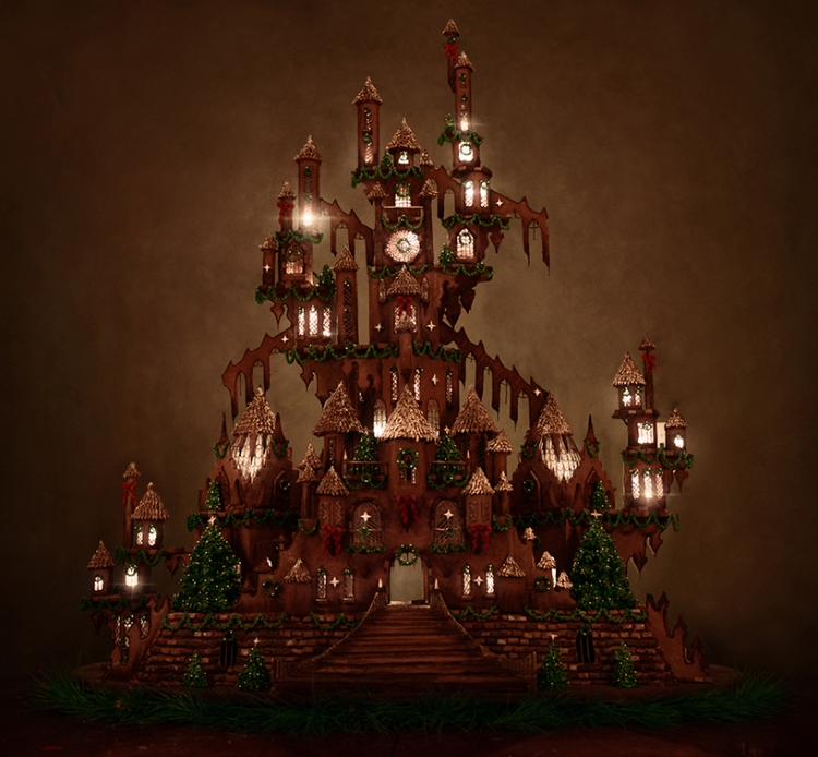 christine-mcconnell-5-foot-tall-gingerbread-castle-moss-and-fog