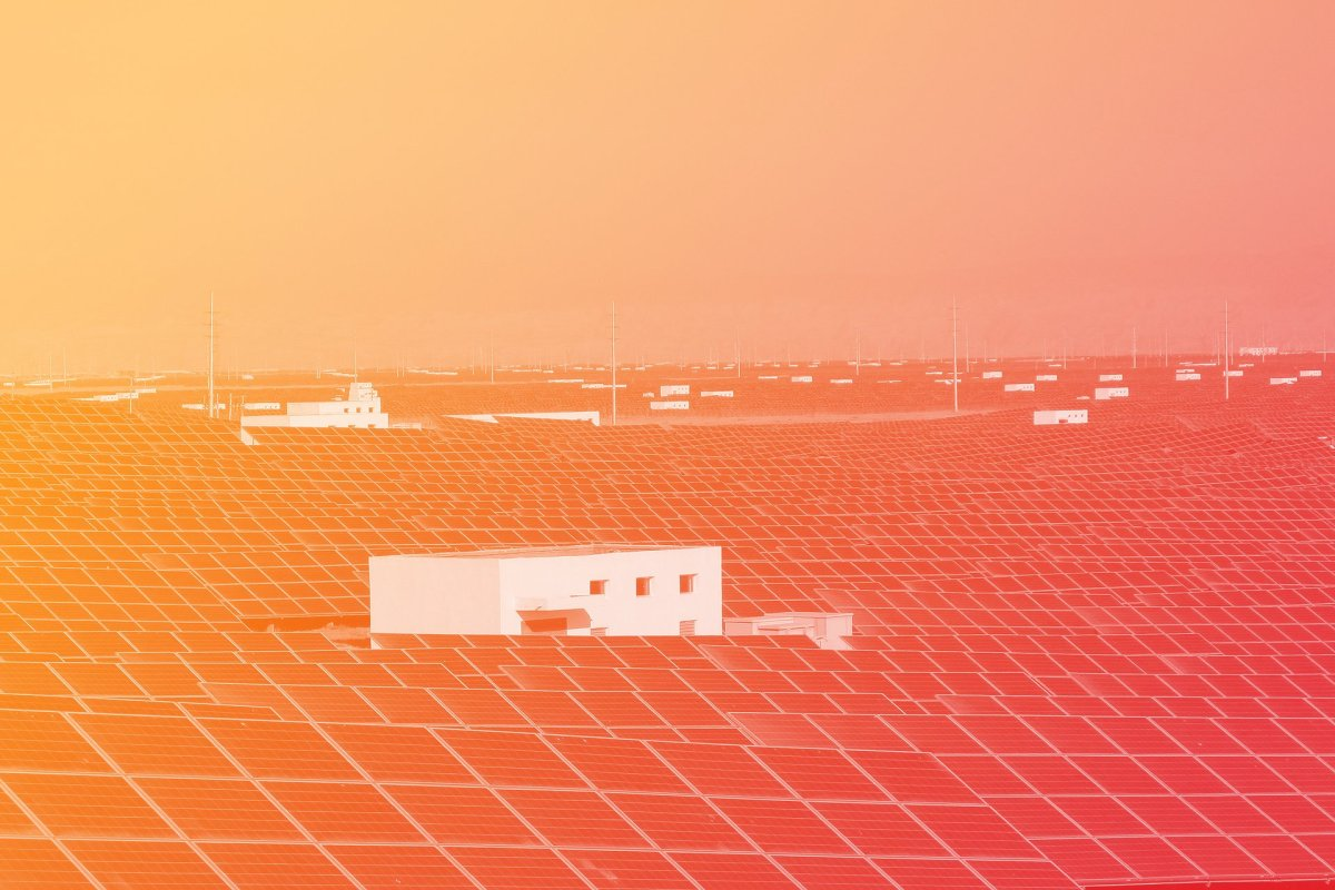 giant solar plant in China