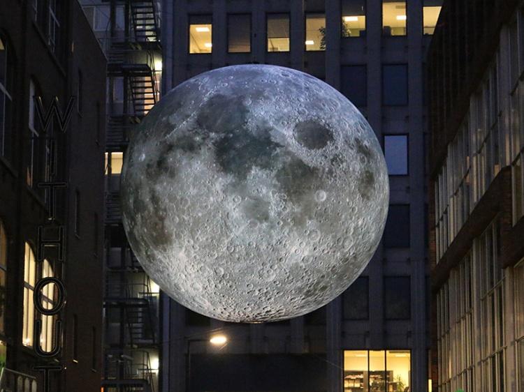 Luke Jerram's seven meter moon