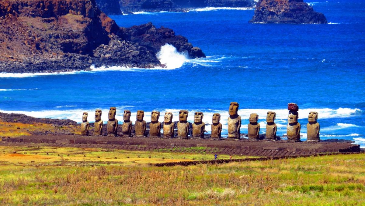 easter island moai moss and fog 2