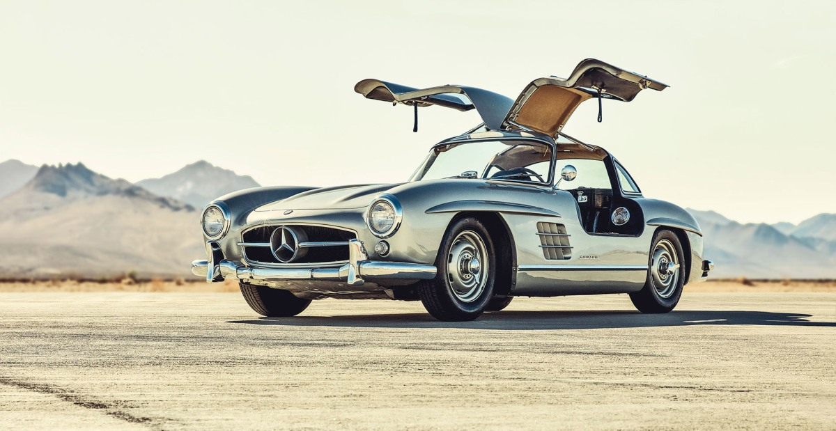 mercedes 300 SL gullwing moss and fog cover